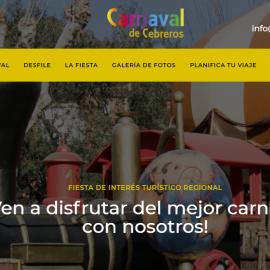 Cebreros estrena una web exclusiva de Carnaval